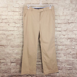 Lands End Khaki Chino 12 Tan Cotton Pants
